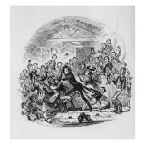 Nicholas Astonishes Mr. Squeers and Family, Illustration from `Nicholas Nickleby' Reproduction procédé giclée par Hablot Knight Browne