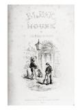 Title Page of 'Bleak House' by Charles Dickens Reproduction procédé giclée par Hablot Knight Browne