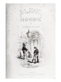 Title Page of 'Bleak House' by Charles Dickens Impressão giclée por Hablot Knight Browne
