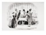 Mr. Guppy's Entertainment, Illustration from 'Bleak House' by Charles Dickens Reproduction procédé giclée par Hablot Knight Browne