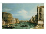 The Grand Canal Venice Looking East from the Campo Di San Vio Impressão giclée por  Canaletto