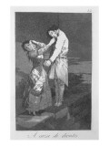 Out Hunting for Teeth, Plate 12 of 'Los Caprichos', Pub. 1799 Giclee Print by Francisco de Goya