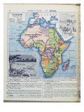 Map of Colonial Africa, from a School Book, Published in 1911 Giclée-tryk af Charles Lacoste
