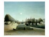 A View of the Ile Saint-Louis from Port Saint-Nicolas, Evening, C.1888 Giclee Print by Henri Emilien Rousseau