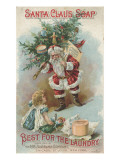 Best for the Laundry', Advertisement for Fairbank's Santa Claus Soap, C.1880 Giclee Print by  American School