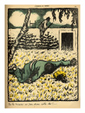 A Peasant Shoots a Tramp Caught Stealing Plums from His Tree Giclee Print by Félix Vallotton