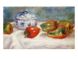 Still Life with a Blue Sugar Bowl and Peppers, C.1905 Giclee Print by Pierre-Auguste Renoir