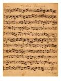 The Brandenburger Concertos, No.5 D-Dur, 1721 Lámina giclée por Johann Sebastian Bach