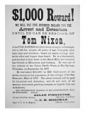 Reward Poster for Tom Nixon Issued by the Pinkerton National Detective Agency, 1877 Giclee Print by  American School