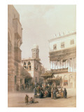 """Bazaar of the Coppersmiths, Cairo, from """"Egypt and Nubia"""", Vol.3 Giclee Print by David Roberts"""
