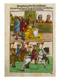 Sigismund at the Council of Constance, from 'Chronik Des Konzils Von Konstanz' Giclee Print by Ulrich Von Richental