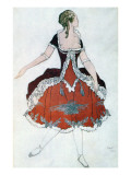 Costume Design for the Princess Aurora, from Sleeping Beauty, 1921 Reproduction procédé giclée par Leon Bakst