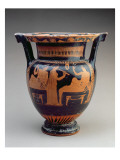 Attic Red-Figure Column Krater with a Symposium Scene of a Flute Player Stampa giclée
