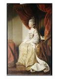 Portrait of Queen Charlotte, Full Length, Seated in Robes of State Giclee-trykk av Sir Joshua Reynolds