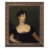 Portrait of Lady Beresford, Seated, Half-Length in a Black Dress Decorated with a Rose Giclée-tryk af Thomas Lawrence