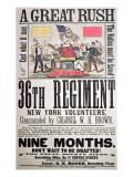Federal Recruiting Poster for the 36th Regiment, New York Volunteers Gicléedruk van  American School