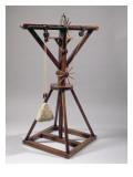 Reconstruction of Da Vinci's Design for a Slewing Crane Giclée-Druck von  Leonardo da Vinci