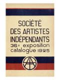 Catalogue for the 36th Salon Des Independants in Paris, 1925 Giclée-tryk