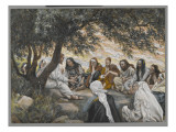 The Exhortation to the Apostles, Illustration from 'The Life of Our Lord Jesus Christ' Giclee Print by James Tissot