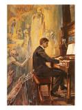 Albert Schweitzer Was an Exceptionally Fine Organist Giclée-tryk af Alberto Salinas