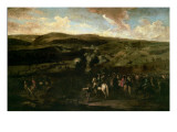 King William Iii at the Battle of the Boyne, 1st July 1690 Giclee Print by Jan Wyck