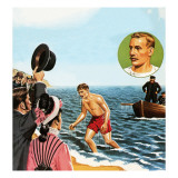 Matthew Webb, the First Man to Swim the English Channel in August 1875 Giclee Print by John Keay