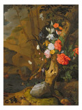 Peonies, Roses, Lilies, Poppies and Other Flowers Giclee-trykk av Rachel Ruysch