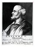 Epicurus, Engraved by Johann Fredrich Schmidt Giclée-tryk af  German School