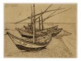 Fishing Boats on the Beach at Saintes-Maries-De-La-Mer, 1888 Giclee Print by Vincent van Gogh