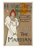 Cover Illustration for 'Harper's' Magazine Featuring 'The Martian' by Dumaurier, 1898 Giclée-tryk af Fred Hyland