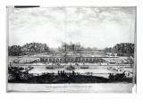 Perspective View of the Garden Facade of the Chateau of Vaux-Le-Vicomte Reproduction procédé giclée par Israel, The Younger Silvestre