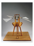 Model Reconstruction of Da Vinci's Design for a Vertical Ornithopter Giclee Print by  Leonardo da Vinci