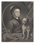 Self Portrait, Engraved by J. Mollison Giclee Print by William Hogarth