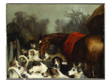 No Hunting Till the Weather Breaks Giclée-tryk af Edwin Henry Landseer