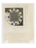 Design for a Clock Face, for W.J. Bassett-Lowke, 1917 Giclee Print by Charles Rennie Mackintosh