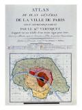 Atlas Du Plan General De La Ville De Paris, 1796 Reproduction procédé giclée par Edme Verniquet