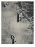 Anglo-American Incendiary Bombs Fall on Hamburg, 1942-45 Giclee Print
