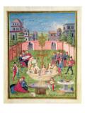 Ms. 'De Sphaera' Fol.11R the Fountain of Youth, 1470 Giclée-tryk af  Italian School