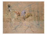 Sketch for 'At the Masked Ball', C.1892 Giclée-tryk af Henri de Toulouse-Lautrec