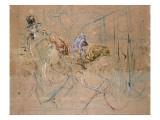 Sketch for 'At the Masked Ball', C.1892 Giclée-vedos tekijänä Henri de Toulouse-Lautrec
