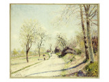 The Road from Veneux to Moret on a Spring Day, 1886 Giclee Print by Alfred Sisley
