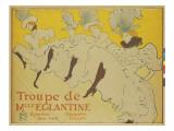 The Troupe of Mademoiseele Eglantine, 1896 Lámina giclée por Henri de Toulouse-Lautrec