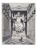 Statue of Olympian Zeus by Pheidias Giclee Print by Ferdinand Knab