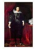 Portrait of George Villiers, 1st Duke of Buckingham Lámina giclée por Daniel Mytens