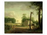 Wayside Inn on Route to Philadelphia Giclee Print by Thomas Birch