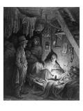 Opium Smoking - the Lascar's Room Lámina giclée por Gustave Doré