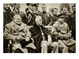 The 'Big Three' at the Yalta Conference Gicléetryck av  English Photographer