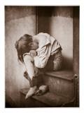 A Night Out, Homeless, C.1857 Giclée-Druck von Oscar Gustav Rejlander