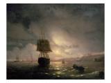 Harbour at Odessa on the Black Sea, 1852 Giclée-tryk af Ivan Konstantinovich Aivazovsky