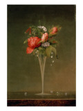 Still Life with Wine Glass, 1860 Giclée-tryk af Martin Johnson Heade